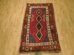 semi antique tribal handmade 3 x 5 persian red rug area rug