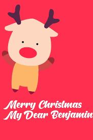 Amazon.fr - Merry Christmas My Dear Benjamin: Christmas Notebook ...