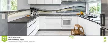 Cuisine Grise Moderne Photo Stock Image Du élégant Maison 75975620