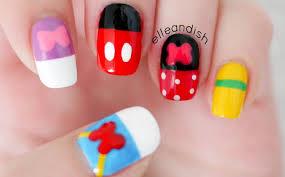 Walt Disney Friends Inspired Nails - YouTube