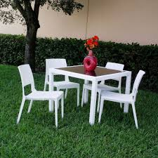 Picture Of Miami Wickerlook Square Dining Set 5 Piece With Side Chairs
