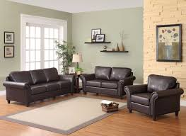 Modern Living Room With Brown Leather Sofa Paint Colors To Match Brown Leather Couch Home Photos By Design