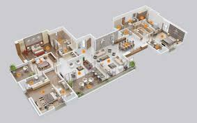 Small 5 Bedroom House Plans 4 Bedroom Apartment House Plans