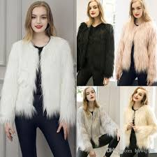 2018 new women s faux fur coat fashion winter warm coat jacket long sleeve o neck short jacket parka coats overcoat cjf0939 from hhwq105 27 34 dhgate