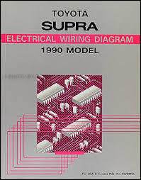 1990 toyota supra wiring diagram manual original