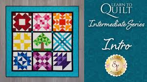 Learn to Quilt Intermediate Series Intro   Shabby Fabrics - YouTube & Learn to Quilt Intermediate Series Intro   Shabby Fabrics Adamdwight.com