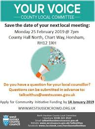 Wscc Local Committee In North Horsham Save The Date