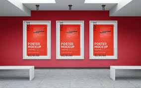 Mockup Poster Free Art Gallery Wall Canvas Poster Mockup Psd Good Mockups