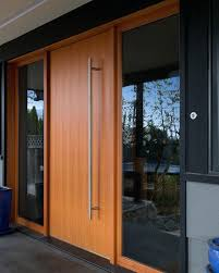 furniture Modern Timber Front Doors Mid Century Wood Entry Wooden