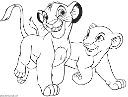 Small Picture Coloring page of the disney movie the lion king for kids and