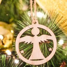 Longble 30 Stück Weihnachtsbaum Holz Anhänger Weihnachtsdeko Basteln