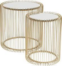 Kare <b>Side Table</b>, Metal, Glass, Brass/Gold, <b>45 x</b> 44 cm: Amazon.co ...