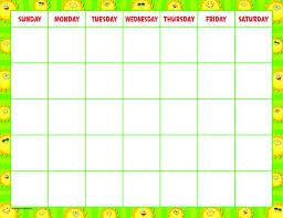 Happy Suns Calendar Chart