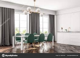 Luxus Esszimmer Und Küche Interieur Mit Einem Dunklen
