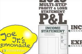 Profit And Loss Statments Profit And Loss Statement P L