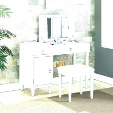 makeup desk with drawers black