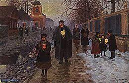 Пасха в славянской традиции Википедия М М Гермашев После заутрени 1904 г