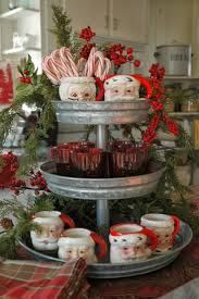 Christmas Hot Chocolate Station with Santa mugs