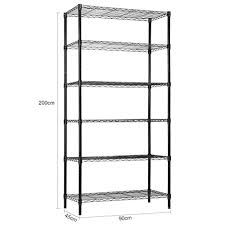 langria 6 tier garage shelving shelving unit storage rack garage shelf heavy duty metal shelves