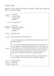 Formal Letter Format Samples Formal Letter Format Examples Exercises