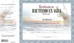Certificado De Bautismo Template Certificado De Bautismo En Agua Azul Paloma Fuente De Vida
