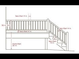 exterior railing height code. deck stair railing code height~deck height - youtube exterior e