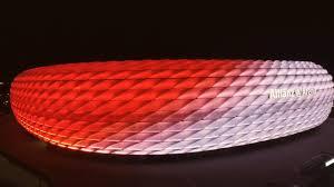 Bayern Munich Stadium Lights New Philips Led Façade Lighting At The Allianz Arena