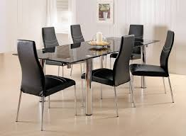 dining room captivating black dining room sets with leather dining chairs and black coffee finish