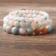 <b>LanLi</b> 4/6/8/10/12mm <b>Natural</b> Jewelry multicolor Morganite Stones ...