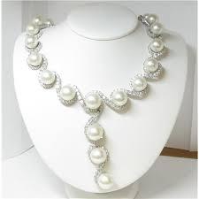 18k las 43 carat diamond and south sea pearl necklace