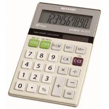 shop scantex sharp el 377tb solar and battery powered four function tax calculator