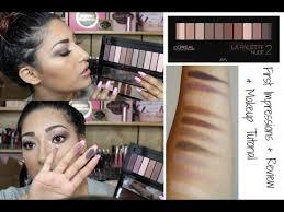 l oreal la palette 2 makeup tutorial review swatches