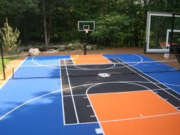 home basketball court design. Basketball Court Vs. Tennis Size Home Design L