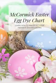 Food Dye Color Chart For Easter Eggs Easter Egg Dye Color Chart Mccormick Infographic