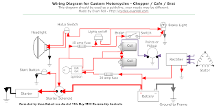 simple motorcycle wiring diagram for choppers and cafe racers evan 1978 Kawasaki KZ650 Wiring-Diagram 77 Kz650 Wiring Diagram #38