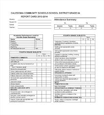 Sample Report Card Template Report Card Maker Sample Template For