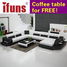 living room furniture sectional sets. IFUNS White Genuine Leather Luxury Sofa Sets U Shaped Cow Sectional  Set Living Room Furniture