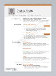 Examples Of Resumes Traditional Resume Samples Templat Simple