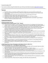 Resume Templates Computer Network Specialist Example Professional