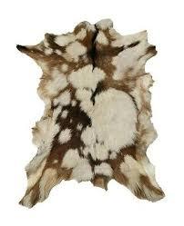 goat skin rug soft fur animal skin pelt floor rug cowhide
