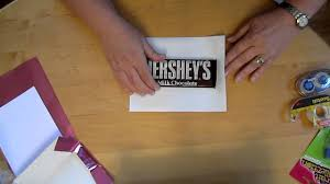 hershey candy bar wrapper wrap a 1 66oz hershey candy bar with a personalized wrapper youtube