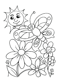 Preschool Coloring Pages Spring Flowers Free For Preschoolers