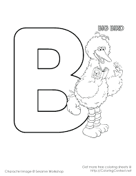 Elmo And Big Bird Coloring Pages Bird Coloring Pages Printable Free