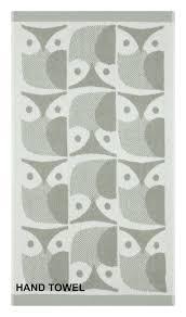 orla kiely designer owl towel set thumbnail