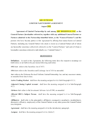Business Separation Agreement Template Business Partner Agreement Template 1
