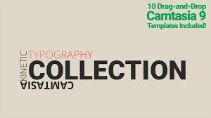 typography templates camtasia 9 kinetic typography templates youtube