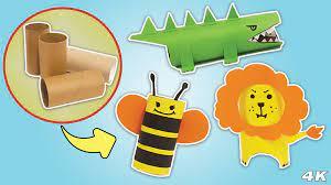 Hướng dẫn tự làm đồ chơi thú cưng cho bé từ lõi giấy vệ sinh - Cách Làm Hay