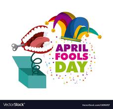 April fools day design Royalty Free Vector Image