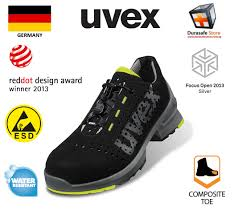 Uvex Safety Shoes Size Chart Uvex 8543 Uvex 1 Lightweight Safety Shoes Black Yellow Size 39 46 Ss513 2005 Approved Durasafe Shop