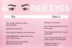 hooded eyes makeup eyeliner eyeshadow